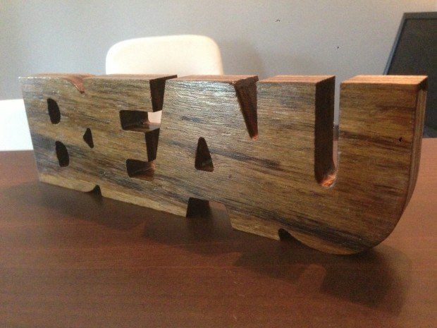houten letters beau 7 colors multimedia b v
