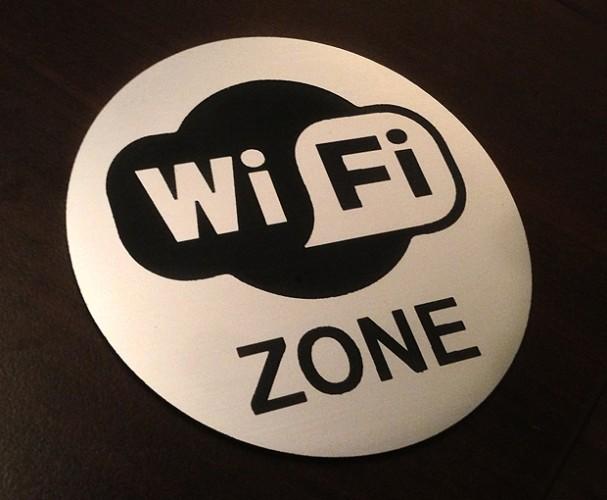 Wifi zone sign